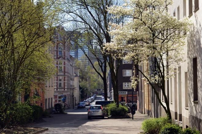 Foto. Ansicht Strasse Eltingviertel