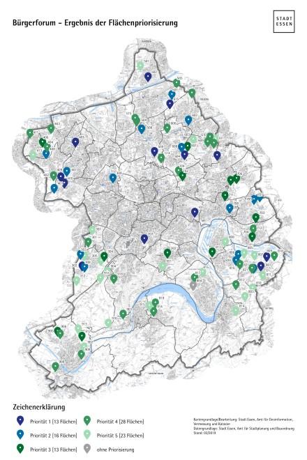 Karte zur Flächenpriorisierung Bürgerforum