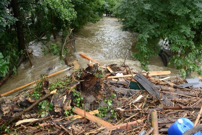 Hochwasser 2021 Überfluteter Deilbach