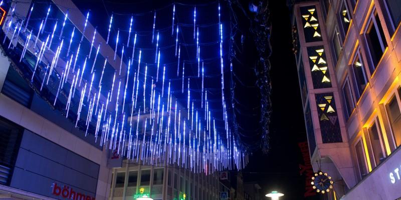 Eröffnung der Essener Lichtwochen. Rundgang Kettwiger Straße
