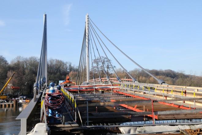Baufortschritt Kampmannbrücke Januar 2019