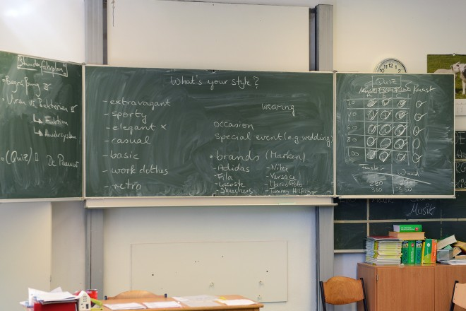 Foto: Tafel im Klassenzimmer