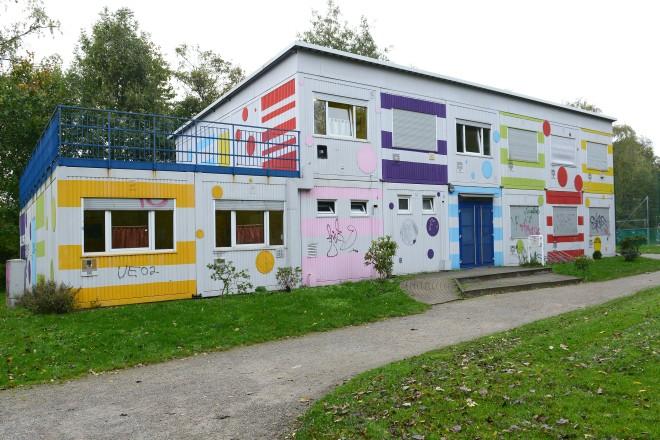 Der Computainer in Vogelheim. Foto: Elke Brochhagen, Stadt Essen