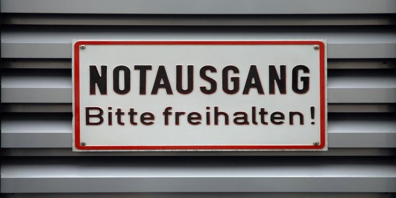 Foto: Notausgangsschild
