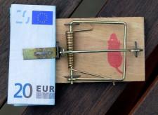 Foto: Mausefalle mit Geld