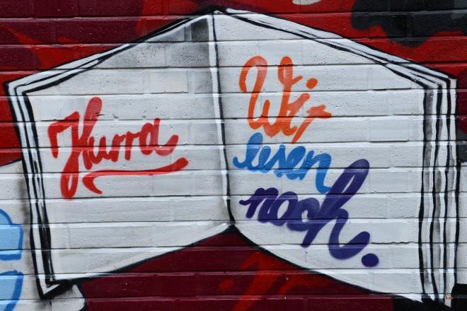 Graffiti Bücherei