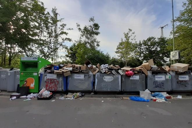 Foto: Müll an einem Container-Standort