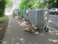 Foto: Müll am Container-Standort