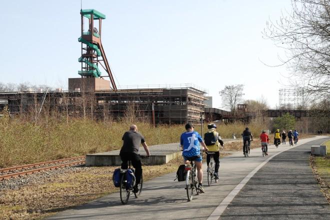 Radwege an der Kokerei Zollverein
