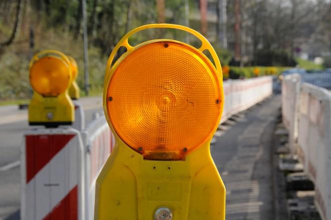 Foto: Baustellenlampe