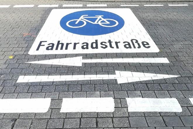 Foto: Fahrradstraße in Rüttenscheid
