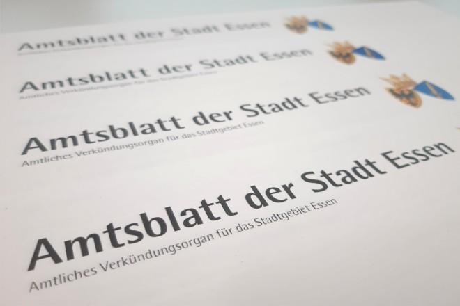Amtsblatt der Stadt Essen