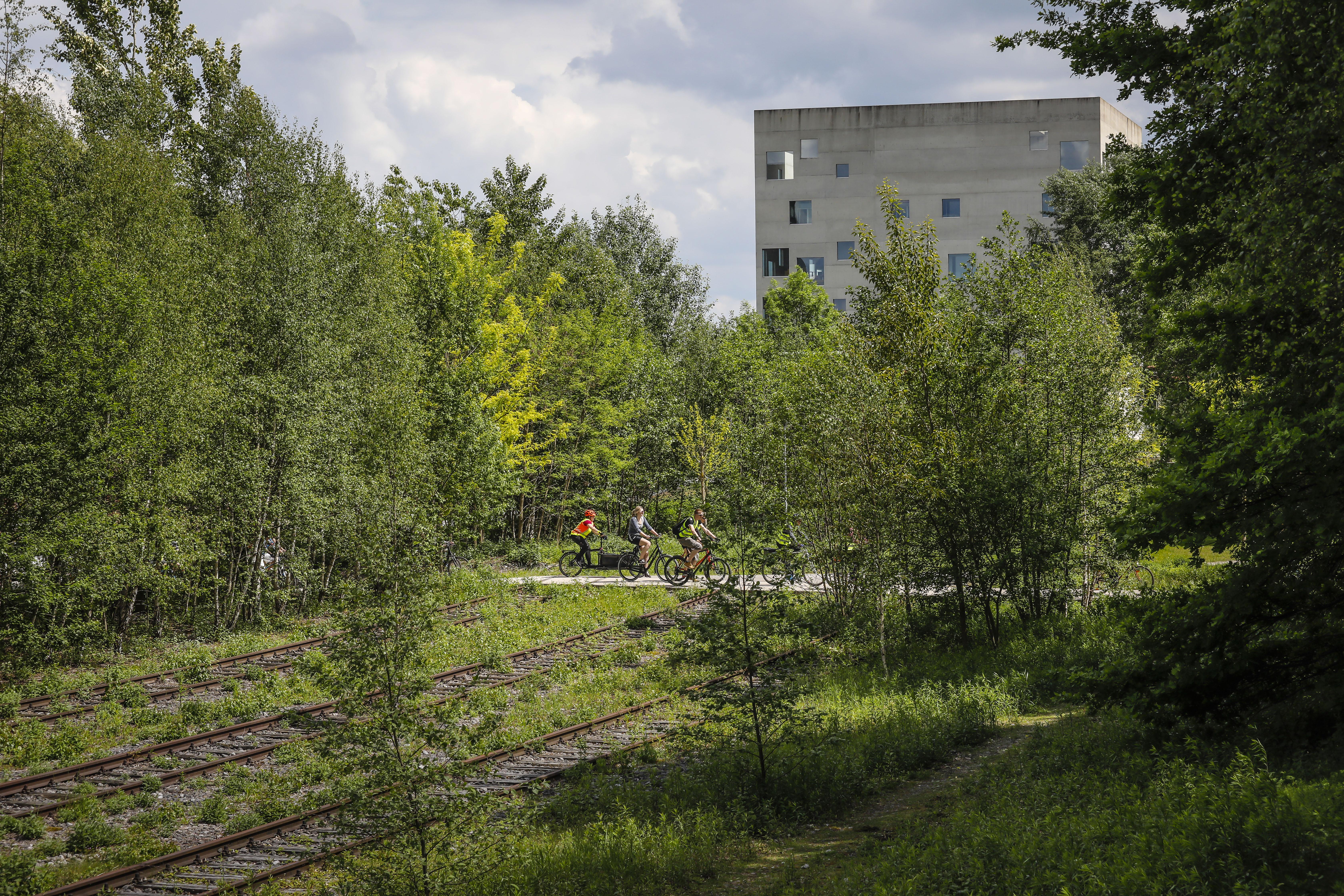 Radler auf Zollverein.