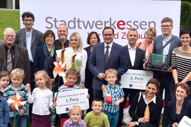 Foto: Gewinnerinnen und Gewinner des Essener Umweltpreises 2015