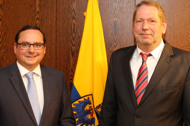 Polizeipräsident Frank Richter zu Gast bei Oberbürgermeister Thomas Kufen