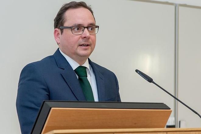 Oberbürgermeister Thomas Kufen beim Neujahrsempfang der Stiftung Universitätsmedizin.