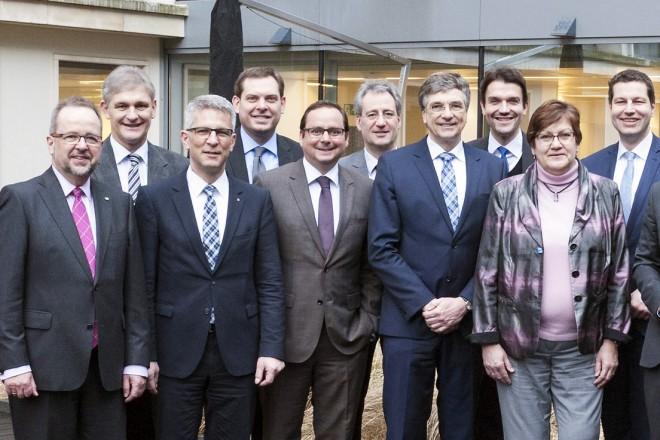Die Delegation aus dem Ruhrgebiet zu Gast in Brüssel. Foto: Dirk A.Friedrich, Essen