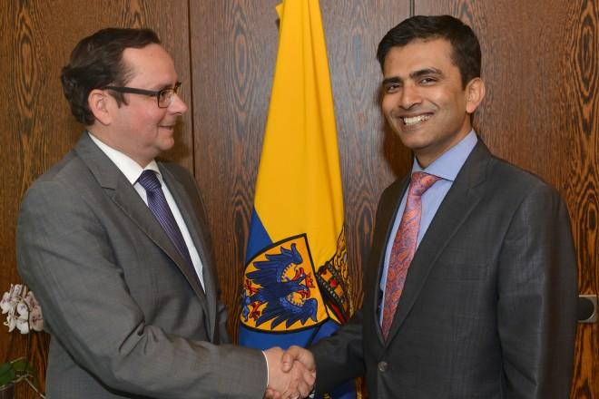 Oberbürgermeister Thomas Kufen empfängt den indischen Generalkonsuls Raveesh Kumar. 2