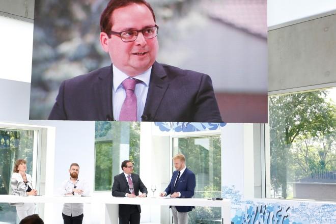 Oberbürgermeister Thomas Kufen beim Zukunftsforum der RAG Stiftung