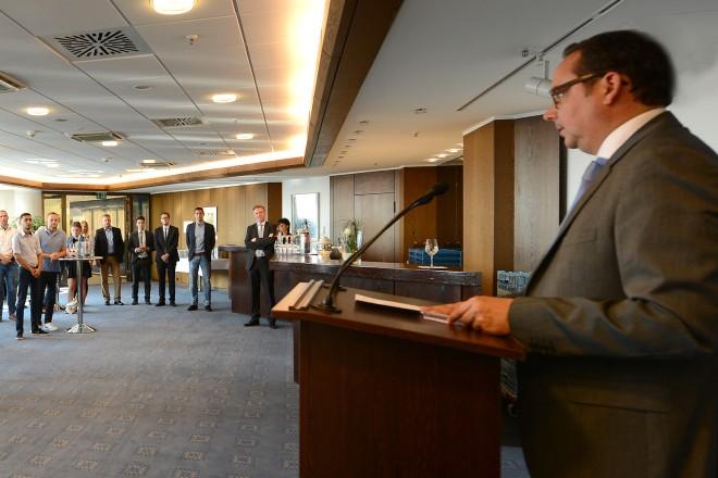 Empfang der Auszubildenden als Dank für Ihren Einsatz in der Ausländerbehörde, im Bürgeramt und im Amt für Soziales und Wohnen.