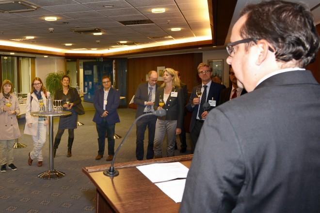 Empfang anlässlich der Eröffnung der CONTRASTIVICA 2016 Foto: Elke Brochhagen