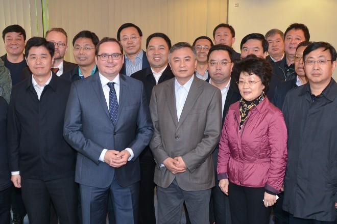 Oberbürgermeister Thomas Kufen begrüßt eine chinesische Delegation die im Rahmen des Deutsch-Chinesischen Bürgermeisterprogramms zu Gast in Essen ist.
