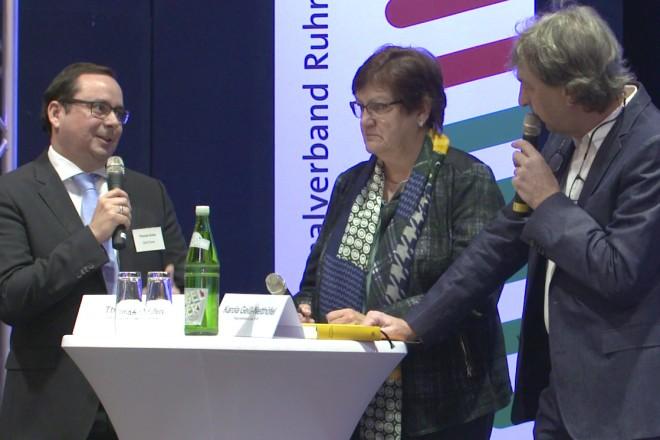 Oberbürgermeister Thomas Kufen bei der Regionalkonferenz Ruhr.