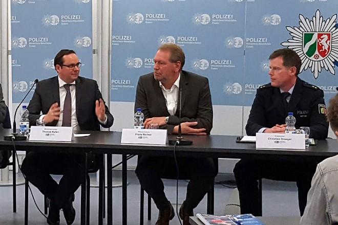 Pressekonferenz zur Videoüberwachung. Foto: Silke Lenz, Stadt Essen