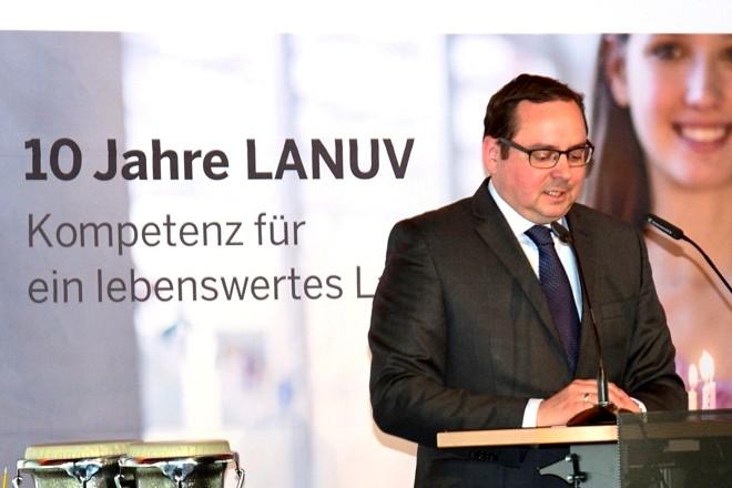 Oberbürgermeister Thomas Kufen beim Festakt anläßlich 10jähriges Jubiläum LANUV. Foto: © LANUV/Brinkmann