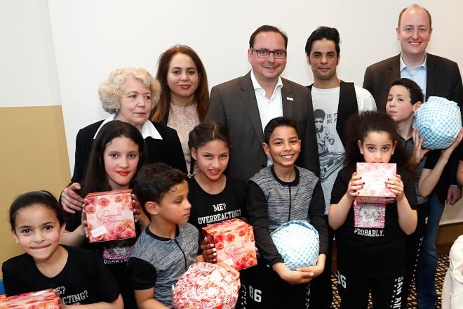 Oberbürgermeister Thomas Kufen besucht das Fest anlässlich des 20jährigen Bestehens des Deutsch-Tunesischen Vereins.