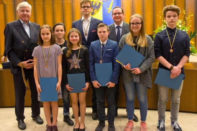 Sportmeisterehrung, Ehrung der Jugend-, Junioren- und Schülerbesten, Kategorie Kampfsport.
