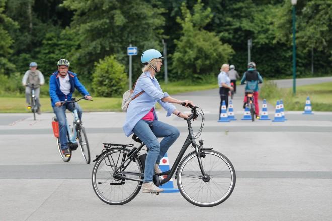Bundesweiter Tag der Verkehrssicherheit - Vorstellung E-Bike-Training für Seniorinnen und Senioren