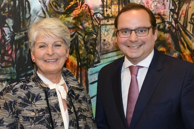 Antrittsbesuch der neuen Regierungspräsidentin Brigitta Radermacher