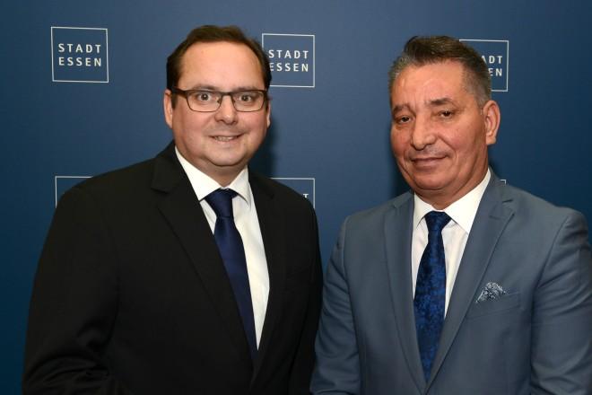 Oberbürgermeister Thomas Kufen empfängt den Infrastruktur-Minister Dr. Pal Lekaj aus dem Kosovo