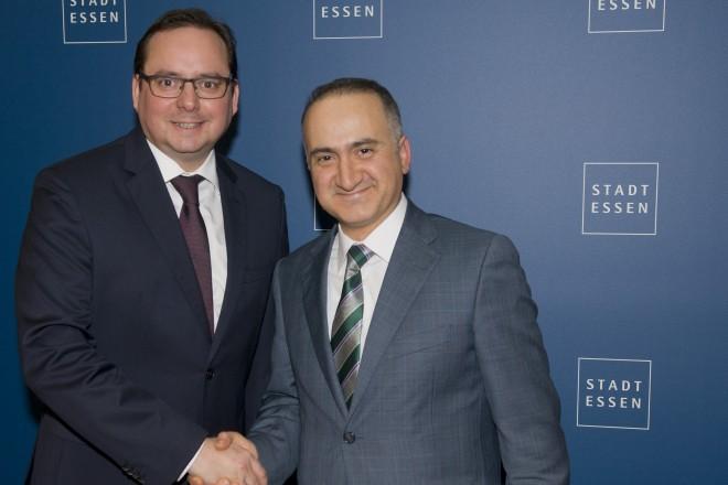 Antrittsbesuch des türkischen Generalkonsuls Şener Cebeci bei Oberbürgermeister Thomas Kufen.