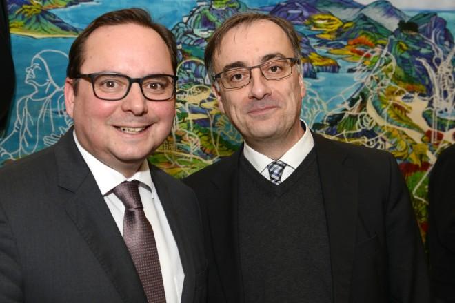 Kultur- Jahresempfang 2018 Oberbürgermeister Thomas Kufen und Muchtar Al Ghusain, neuer Geschäftsbereichsvorstand Jugend, Bildung und Kultur