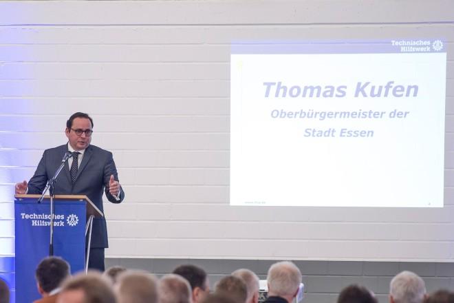 Offizielle Übergabe in Essen-Kray. Oberbürgermeister Thomas Kufen übergibt neue Unterkunft an das Technische Hilfswerk (THW), Ortsverband Essen.
