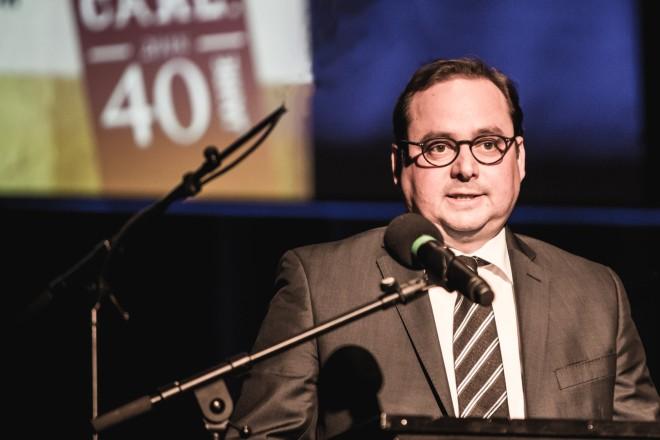 Oberbürgermeister Thomas Kufen beim Festakt 40 Jahre Zeche Carl.