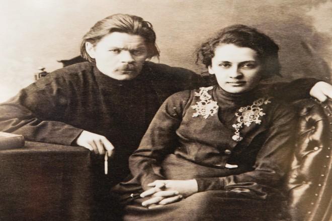 Maxim Gorki mit seiner Ehefrau Ekaterina Peschkowa. Foto: Sammlung des Russischen Museums für FotografieMaxim Gorki mit seiner Ehefrau Ekaterina Peschkowa. Foto: Sammlung des Russischen Museums für Fotografie