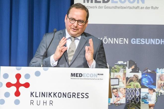 Oberbürgermeistet Thomas Kufen eröffnet den KLINIKKONGRESS RUHR 2018