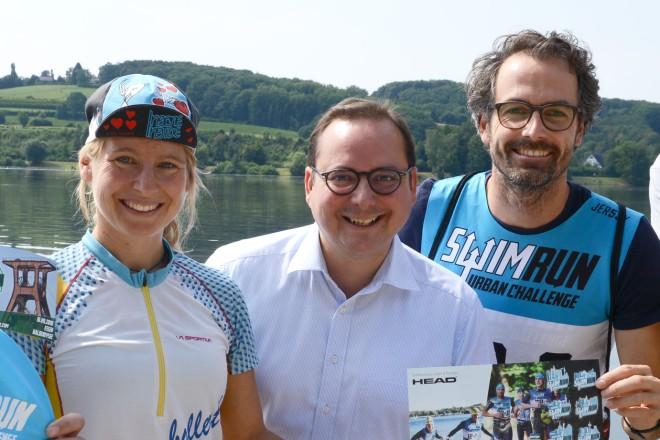 Pressetermin zur Vorankündigung Swimrun Urbahn Challenge Ruhr
