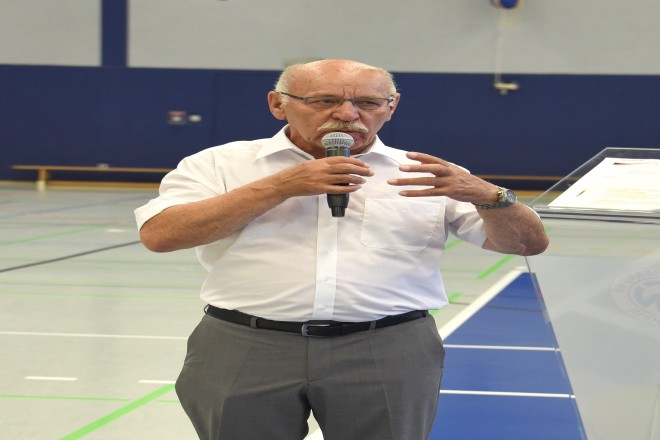 Bürgermeister Rudolf Jelinek eröffnet den DTB Talent Cup 2018