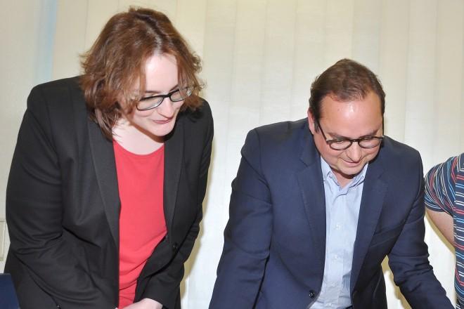 Foto: Oberbürgermeister Thomas Kufen (2.v. links) beim Besuch der Borbecker Nachrichten.