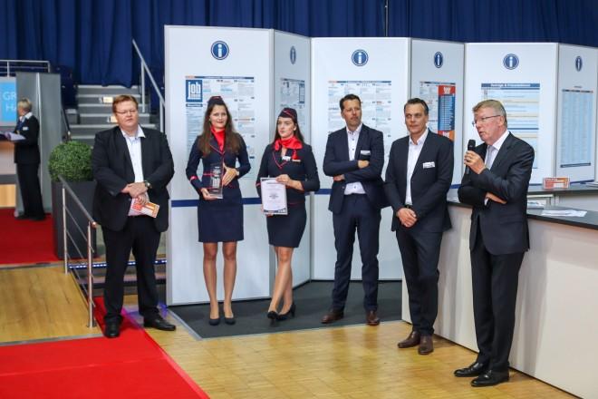Bürgermeister Franz-Josef Britz bei der Eröffnung der 4. Jobmesse in der Grugahalle