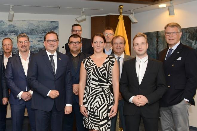 Oberbürgermeister Thomas Kufen empfängt Essens Top-Innovatoren