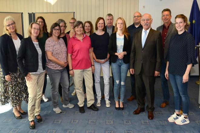 """Bürgermeister Rudolf Jelinek begrüßt die Teilnehmer/innen des Netzwerktreffens """"engagiert in NRW"""""""