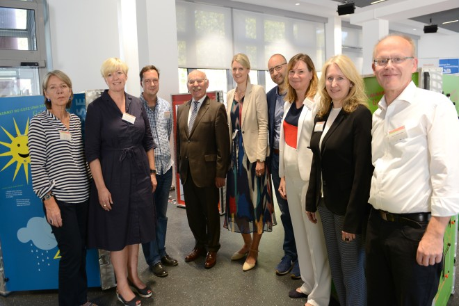 Abschlussveranstaltung ECHT KLASSE! mit Bürgermeister Rudolf Jelinek (4.v.l )
