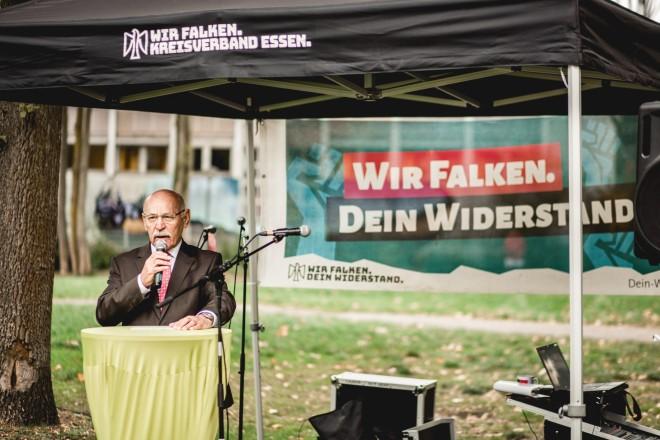 Bürgermeister Rudolf Jelinek beim Kinderfest der Sozialistischen Jugend Deutschlands (SJD) - Die Falken