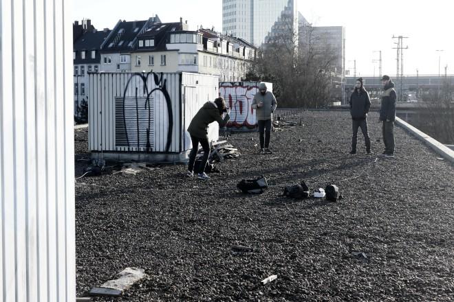 Foto-Shooting über den Dächern: Die Contest-Teilnehmer freuen sich auf attraktive Preise.