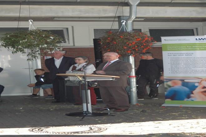 Bürgermeister Rudolf Jelinek bei der WerkerOlympiade der Gärtnerinnen und Gärtner im GALA-Bau
